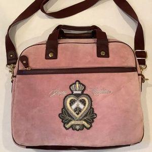 JUICY COUTURE Blush Pink Velour Padded Laptop Bag